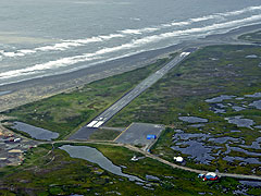 Aerial photo of PAHP (Hooper Bay Airport)