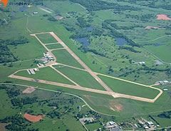 Aerial photo of KPVJ (Pauls Valley Municipal Airport)