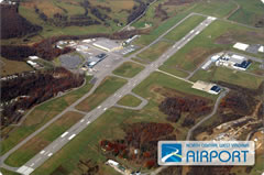 Aerial photo of KCKB (North Central West Virginia Airport)