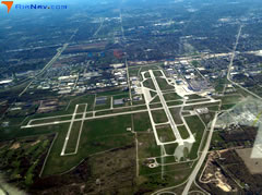 Aerial photo of KSBN (South Bend International Airport)