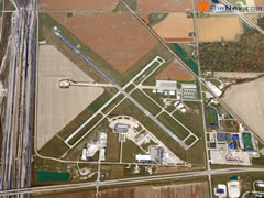 Aerial photo of KTDZ (Toledo Executive Airport)