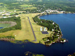 Aerial photo of KSSQ (Shell Lake Municipal Airport)