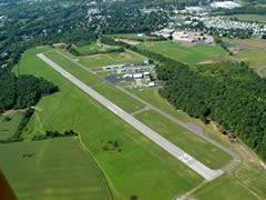 Aerial photo of 9G3 (Akron Airport/Jesson Field)