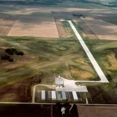Aerial photo of KLQR (Larned-Pawnee County Airport)