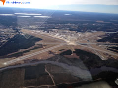 Aerial photo of KNKT (Cherry Point Marine Corps Air Station (Cunningham Field))