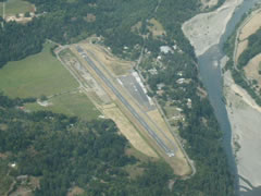 Aerial photo of O16 (Garberville Airport)