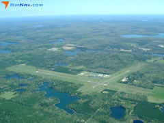 Aerial photo of KARV (Lakeland Airport/Noble F. Lee Memorial Field)