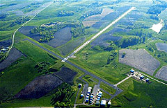 Aerial photo of KMRJ (Iowa County Airport)