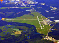 Aerial photo of KAGS (Augusta Regional Airport at Bush Field)