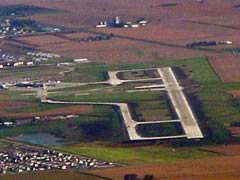 Aerial photo of KBMI (Central Illinois Regional Airport at Bloomington-Normal)