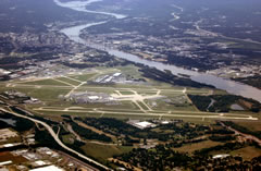 Aerial photo of KLIT (Bill and Hillary Clinton National Airport/Adams Field)