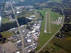 Aerial photo of N03 (Cortland County Airport-Chase Field)