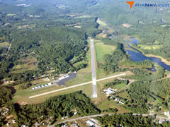 Aerial photo of KVSF (Hartness State Airport (Springfield))