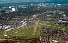 Aerial photo of KSAC (Sacramento Executive Airport)