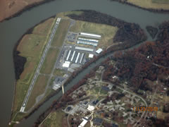 Aerial photo of KDKX (Knoxville Downtown Island Airport)