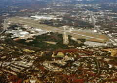 Aerial photo of KMGE (Dobbins Air Reserve Base)