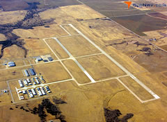 Aerial photo of KRCE (Clarence E Page Municipal Airport)