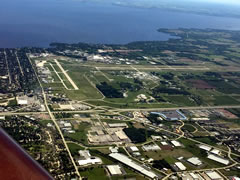 Aerial photo of KOSH (Wittman Regional Airport)