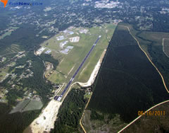 Aerial photo of KBXA (George R Carr Memorial Air Field)
