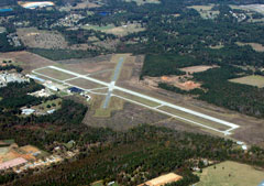 Aerial photo of KASL (Harrison County Airport)
