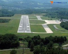 Aerial photo of KMGW (Morgantown Municipal Airport-Walter L. Bill Hart Field)