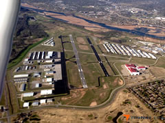 Aerial photo of KRVS (Richard Lloyd Jones Jr Airport)