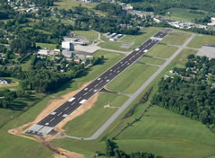 Aerial photo of KLOZ (London (Corbin) Magee Airport)