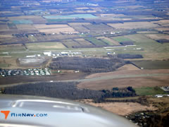 Aerial photo of KGVQ (Genesee County Airport)
