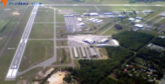 Aerial photo of KCRG (Jacksonville Executive Airport at Craig)