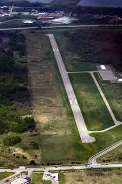 Aerial photo of KANJ (Sault Ste Marie Municipal Airport/Sanderson Field)