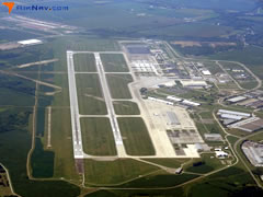 Aerial photo of KLCK (Rickenbacker International Airport)