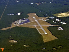 Aerial photo of KHTO (East Hampton Airport)