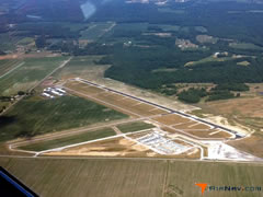 Aerial photo of KOVO (North Vernon Airport)