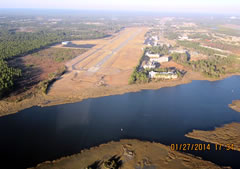 Aerial photo of KSUT (Cape Fear Regional Jetport/Howie Franklin Field Airport)