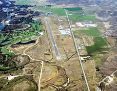 Aerial photo of KCAG (Craig-Moffat Airport)