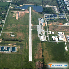 Aerial photo of KVBT (Bentonville Municipal Airport/Louise M Thaden Field)