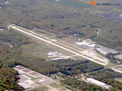 Aerial photo of KMGN (Harbor Springs Airport)