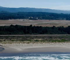 Aerial photo of KACV (California Redwood Coast-Humboldt County Airport)