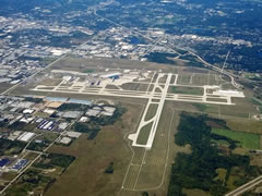 Aerial photo of KGRR (Gerald R Ford International Airport)