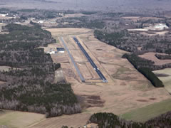 Aerial photo of KCPC (Columbus County Municipal Airport)