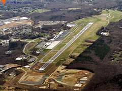 Aerial photo of KCHO (Charlottesville-Albemarle Airport)