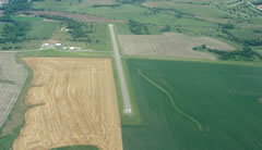 Aerial photo of KTKO (Mankato Airport)
