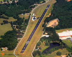Aerial photo of 7A5 (Roanoke Municipal Airport)