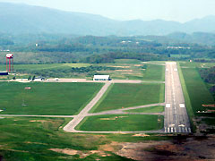 Aerial photo of KLNP (Lonesome Pine Airport)
