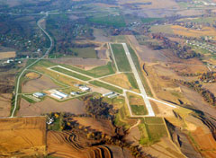 Aerial photo of KCBF (Council Bluffs Municipal Airport)