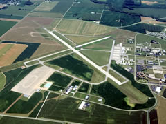 Aerial photo of KBAK (Columbus Municipal Airport)