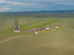 Aerial photo of KFBR (Fort Bridger Airport)