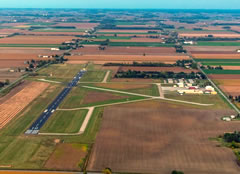 Aerial photo of KHYX (Saginaw County H W Browne Airport)