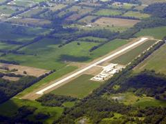 Aerial photo of KJYM (Hillsdale Municipal Airport)