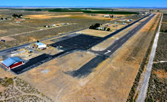 Aerial photo of 62S (Christmas Valley Airport)